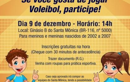Peneirada de Voleibol do Santa Mônica Clube de Campo acontece neste sábado (09)