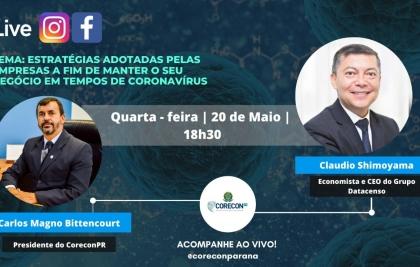 Live do CoreconPR aborda as estratégias adotadas pelas empresas paranaenses em meio a pandemia